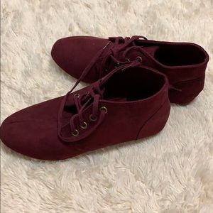 Burgundy Loafers High top